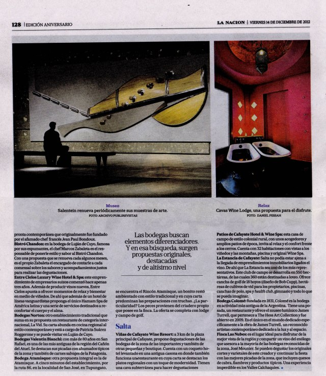 La Nación Gourmet, 21 de diciembre de 2012 Pág 128