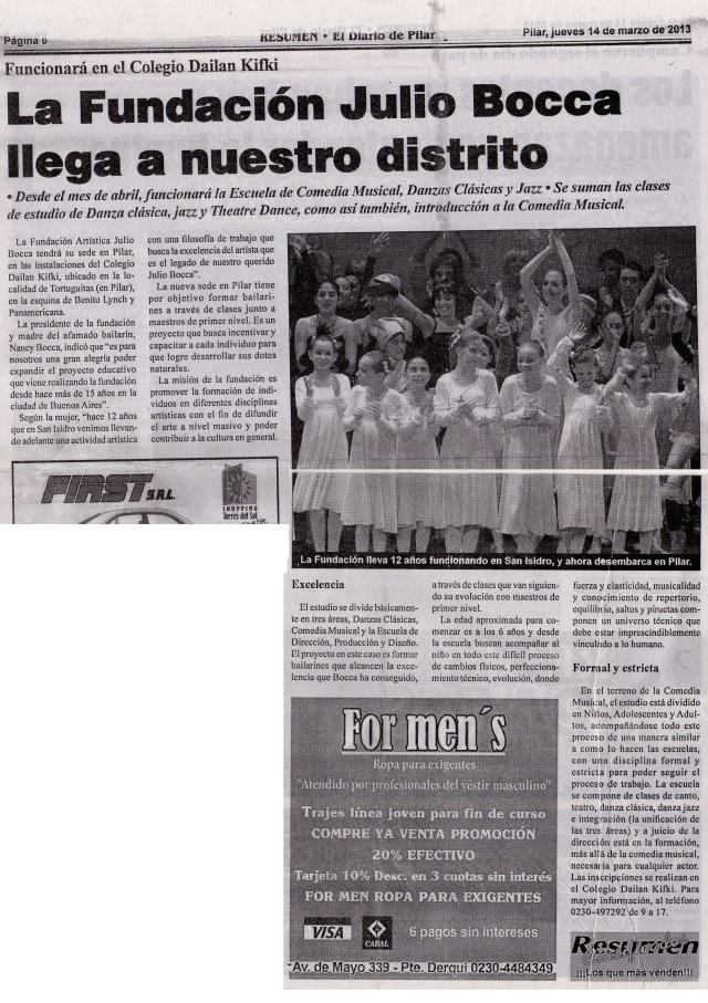 Diario Resumen, 14 de marzo de 2013