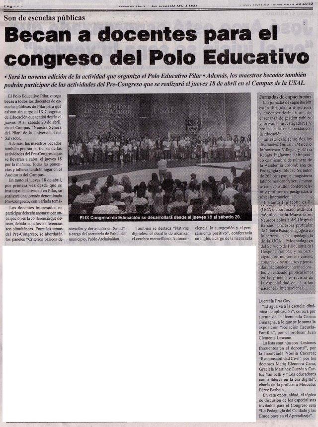 Diario Resumen, 12 de abril de 2013