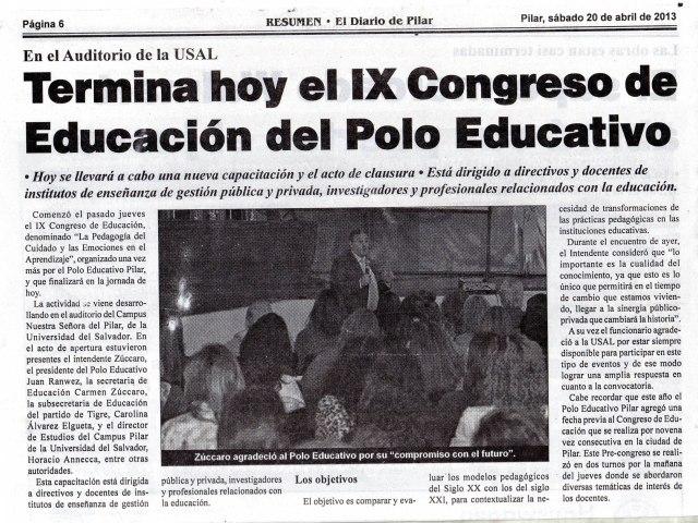 Diario Resumen, 20 de abril de 2013