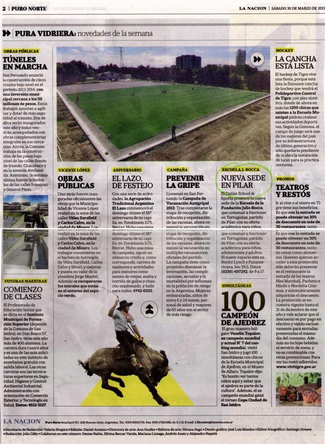 La Nación, Puro Norte, 30 de marzo de 2013