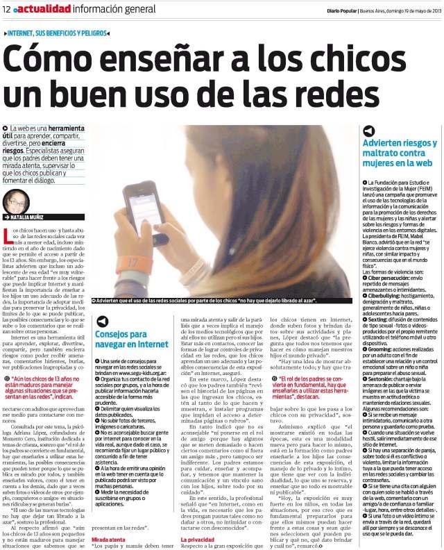 Diario Popular, 19 de mayo de 2013