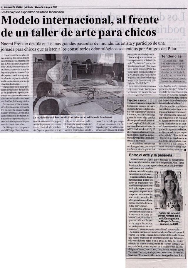 El Diario de Pilar, 14 de mayo de 2013