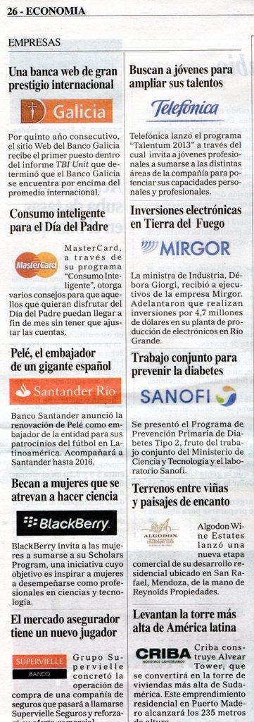 Diario Perfil, domingo 16 de junio de 2013