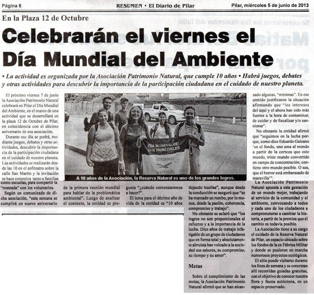 Diario Resumen, 5 de junio de 2013