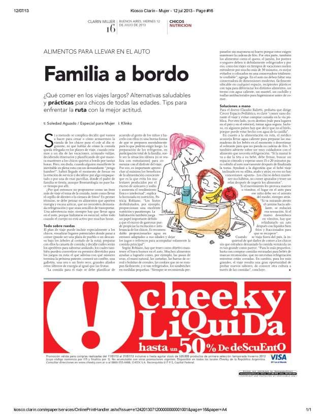 Clarín Mujer - 12 jul 2013 - Page #16