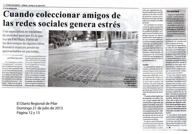 El Diario Regional, 21 de julio