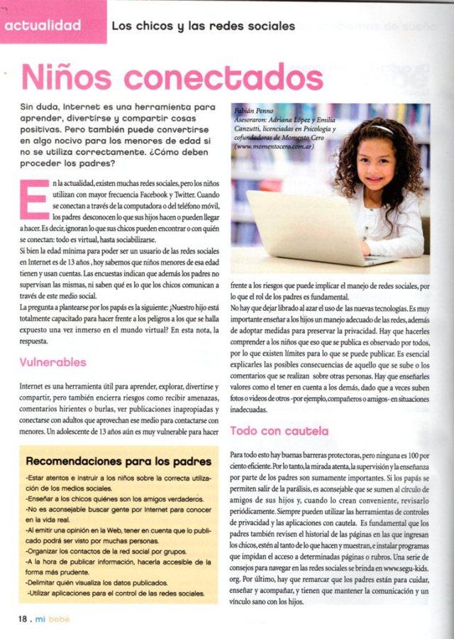 Revista Mi Bebé, julio agosto de 2013