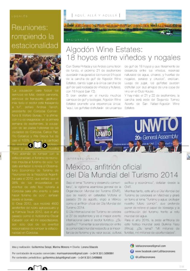 Bitácora News, septiembre 2013 Pág 3